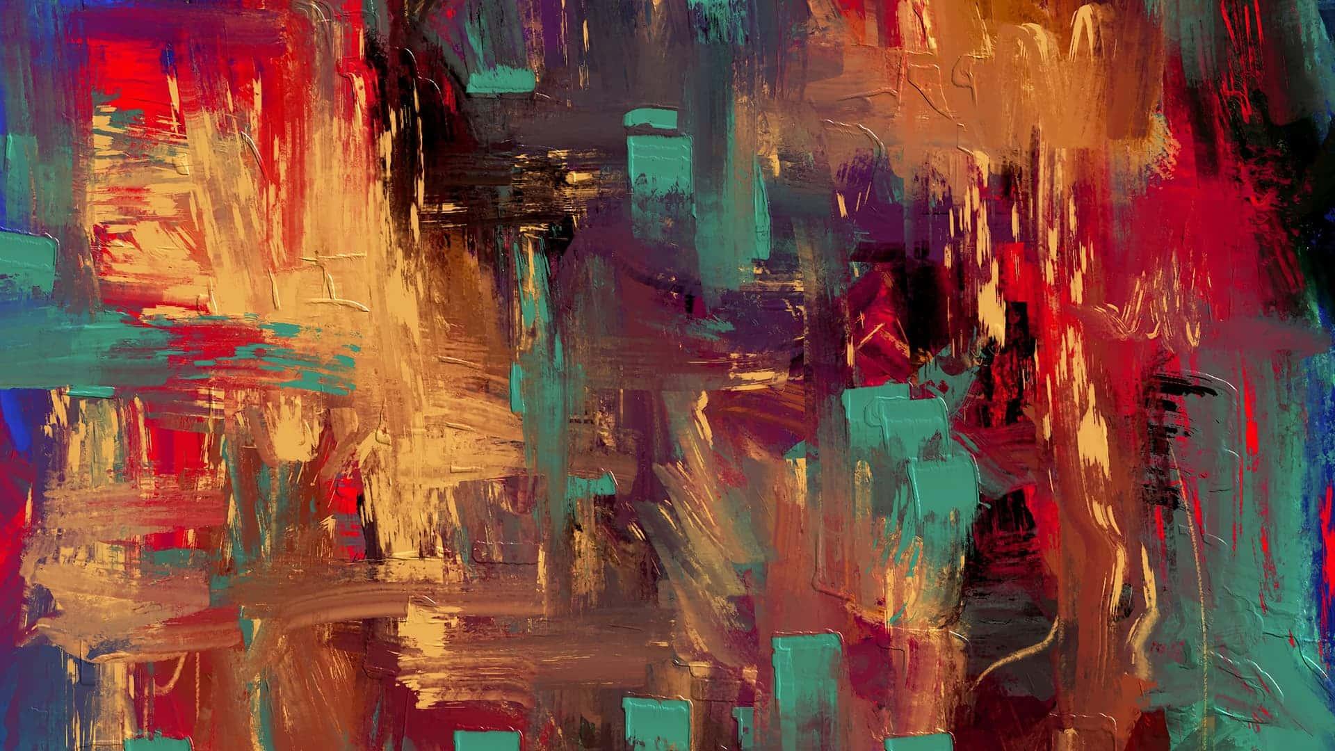 Rappresentazione di un quadro astratto colorato