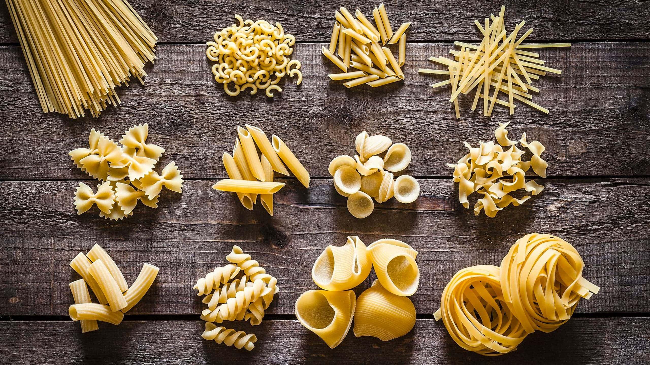 Vari formati di pasta