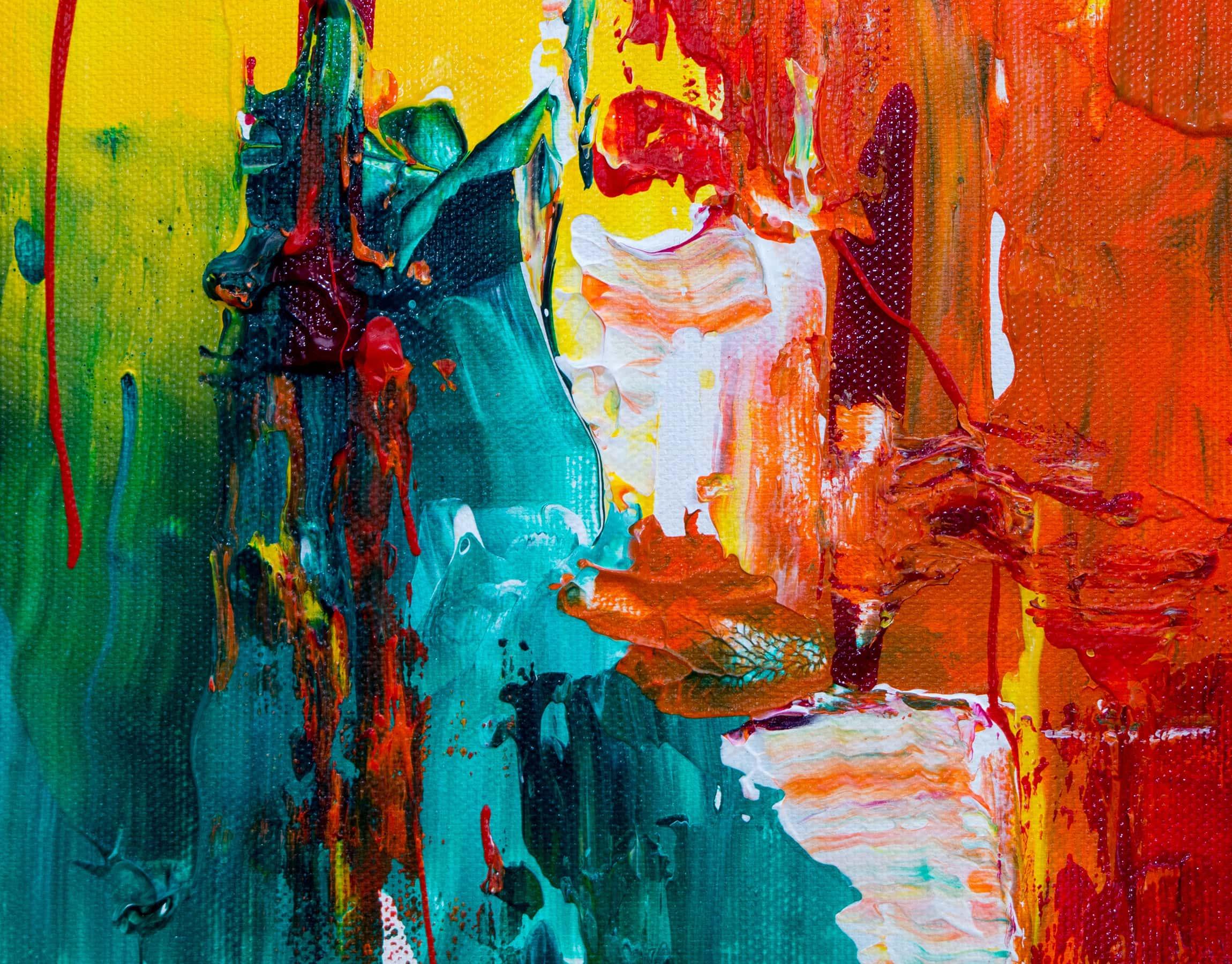 Quadro astratto con colori forti