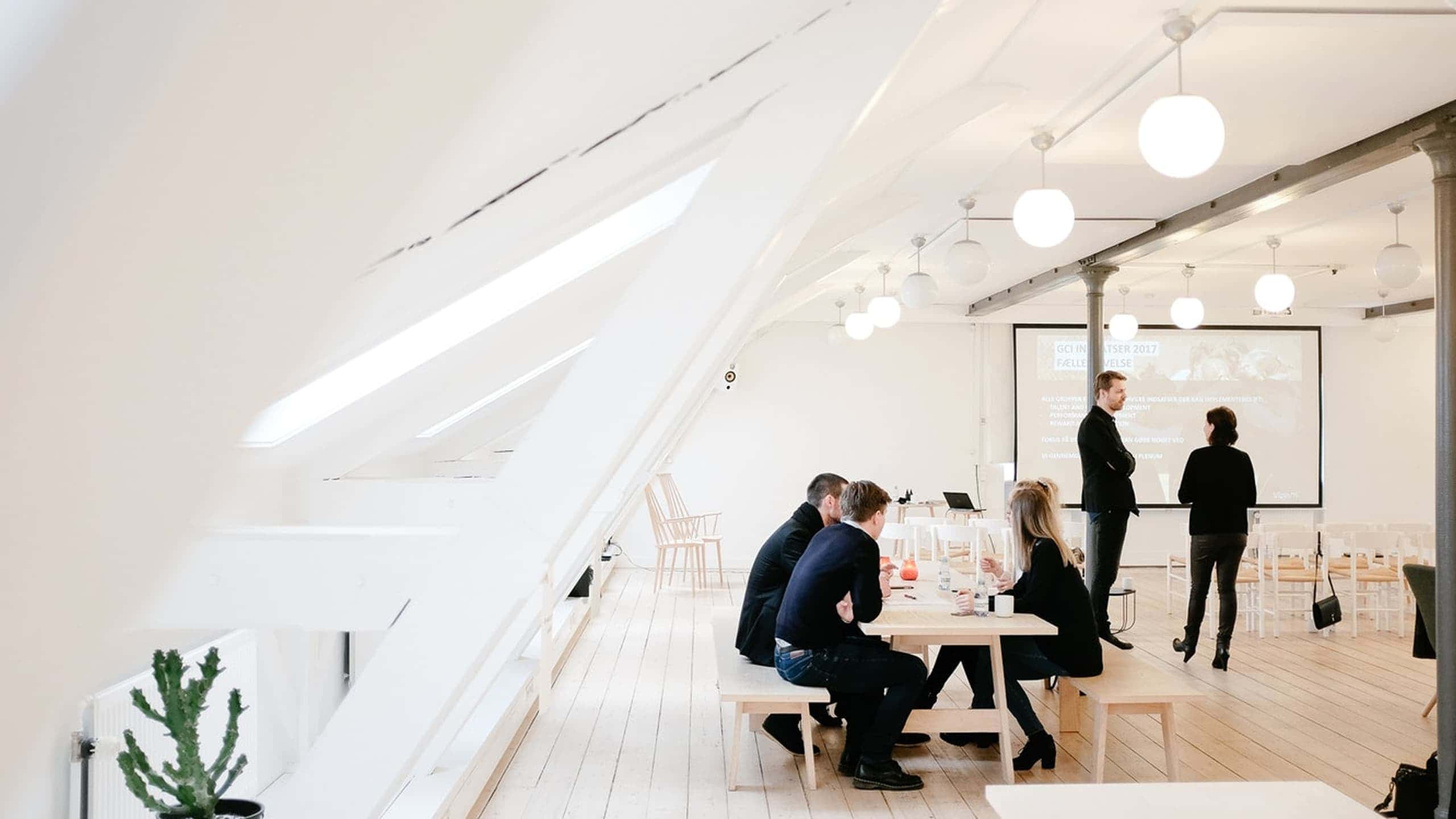 Area moderna di coworking