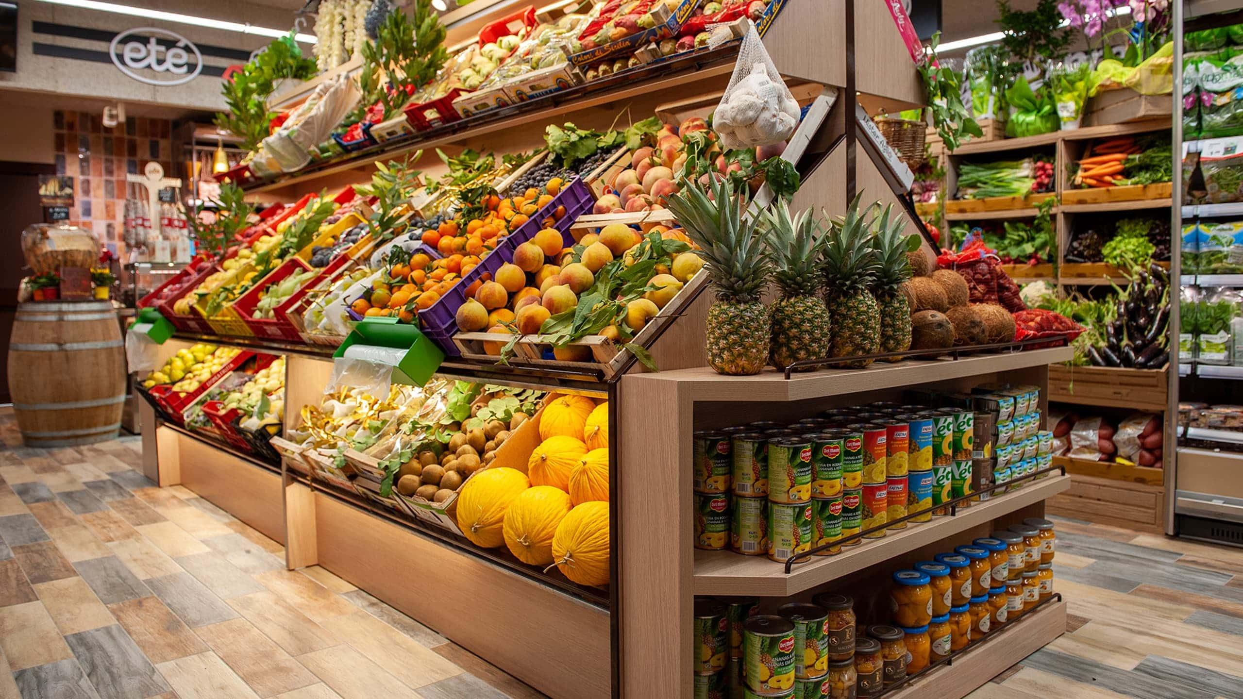Reparto ortofrutticolo di un supermercato della Grande Distribuzione Organizzata (GDO)